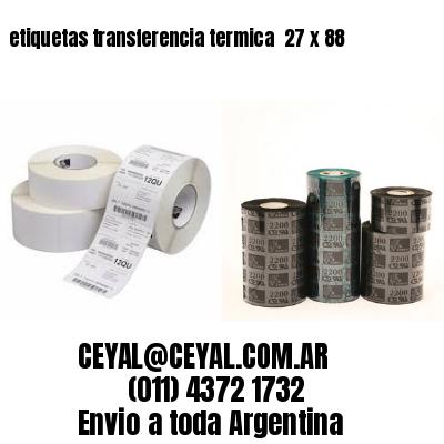 etiquetas transferencia termica  27 x 88