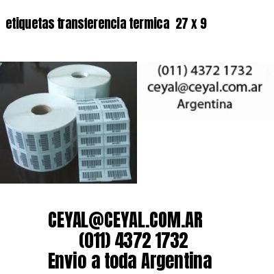 etiquetas transferencia termica  27 x 9