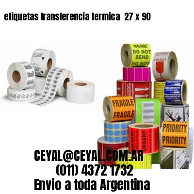 etiquetas transferencia termica  27 x 90