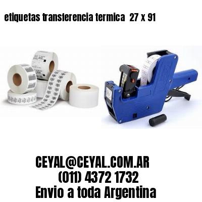 etiquetas transferencia termica  27 x 91