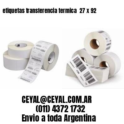 etiquetas transferencia termica  27 x 92