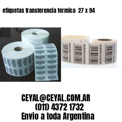 etiquetas transferencia termica  27 x 94