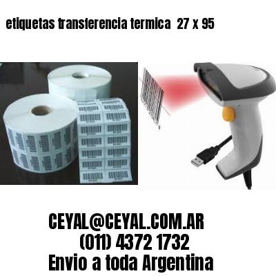 etiquetas transferencia termica  27 x 95