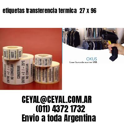 etiquetas transferencia termica  27 x 96