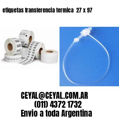 etiquetas transferencia termica  27 x 97