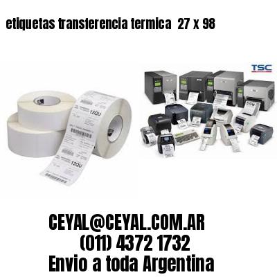 etiquetas transferencia termica  27 x 98