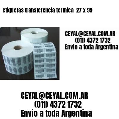 etiquetas transferencia termica  27 x 99