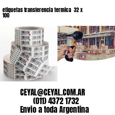 etiquetas transferencia termica  32 x 100