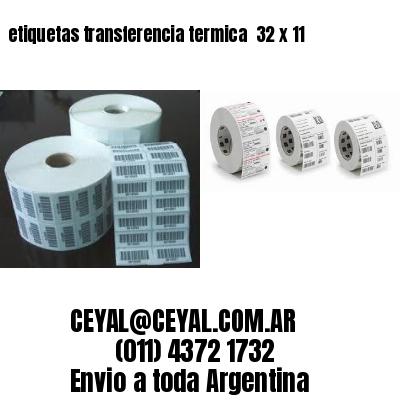 etiquetas transferencia termica  32 x 11