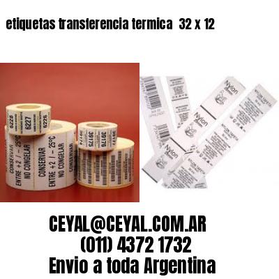 etiquetas transferencia termica  32 x 12