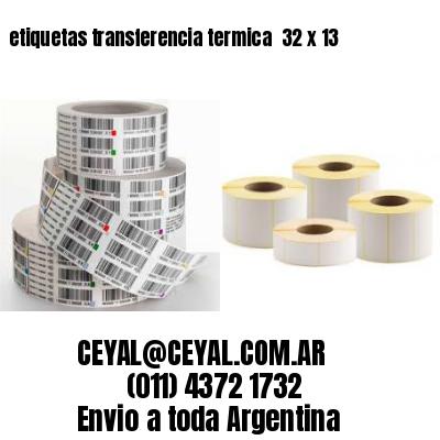 etiquetas transferencia termica  32 x 13