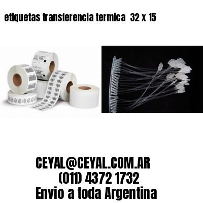 etiquetas transferencia termica  32 x 15