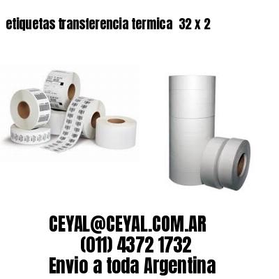 etiquetas transferencia termica  32 x 2