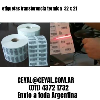 etiquetas transferencia termica  32 x 21