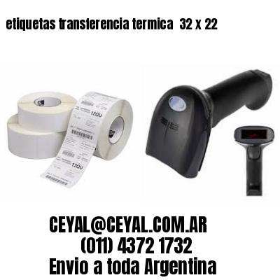 etiquetas transferencia termica  32 x 22