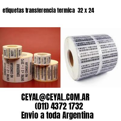 etiquetas transferencia termica  32 x 24