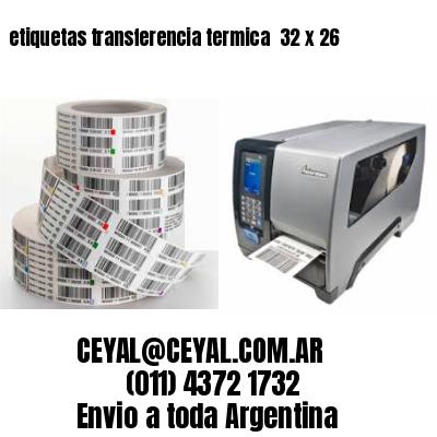 etiquetas transferencia termica  32 x 26