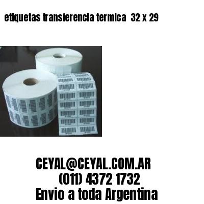 etiquetas transferencia termica  32 x 29