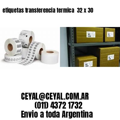 etiquetas transferencia termica  32 x 30