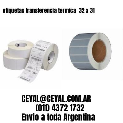 etiquetas transferencia termica  32 x 31