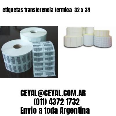etiquetas transferencia termica  32 x 34