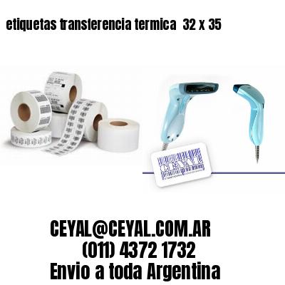 etiquetas transferencia termica  32 x 35