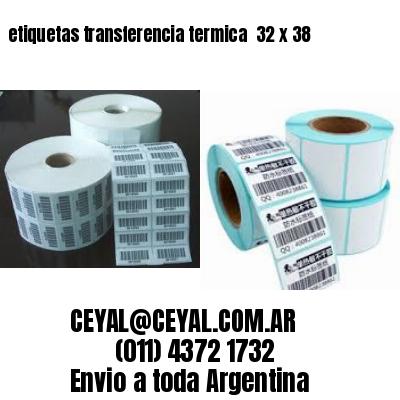 etiquetas transferencia termica  32 x 38