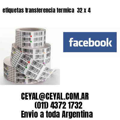etiquetas transferencia termica  32 x 4