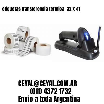 etiquetas transferencia termica  32 x 41
