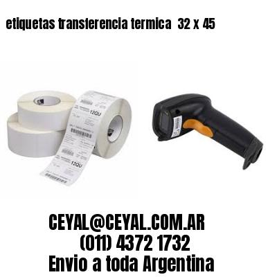 etiquetas transferencia termica  32 x 45