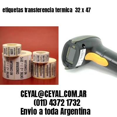 etiquetas transferencia termica  32 x 47