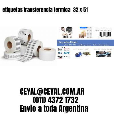 etiquetas transferencia termica  32 x 51