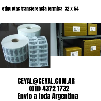 etiquetas transferencia termica  32 x 54