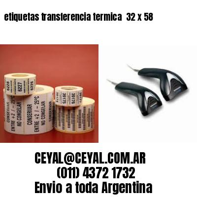 etiquetas transferencia termica  32 x 58