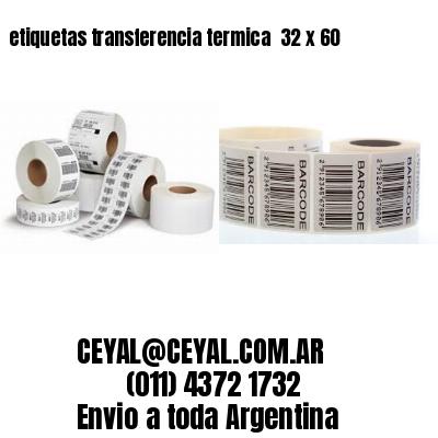 etiquetas transferencia termica  32 x 60