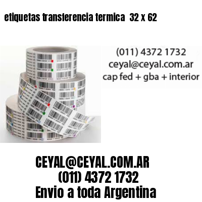 etiquetas transferencia termica  32 x 62