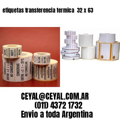 etiquetas transferencia termica  32 x 63