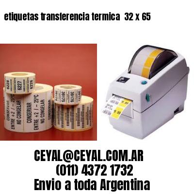 etiquetas transferencia termica  32 x 65