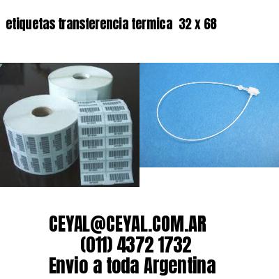etiquetas transferencia termica  32 x 68