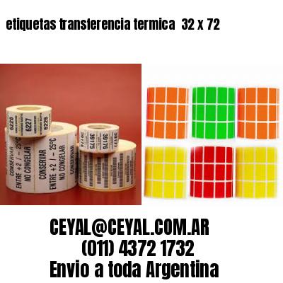 etiquetas transferencia termica  32 x 72
