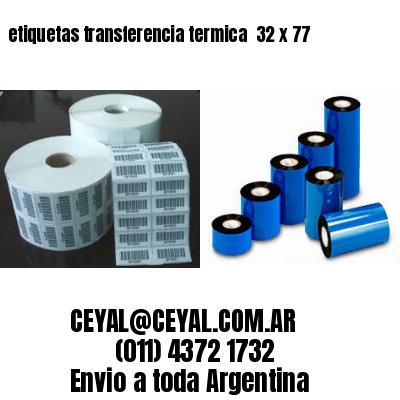etiquetas transferencia termica  32 x 77