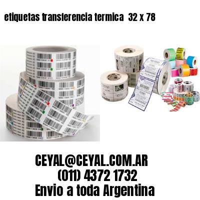 etiquetas transferencia termica  32 x 78