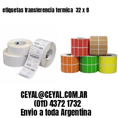 etiquetas transferencia termica  32 x 8