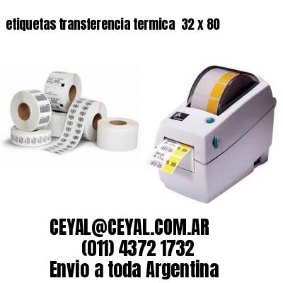 etiquetas transferencia termica  32 x 80