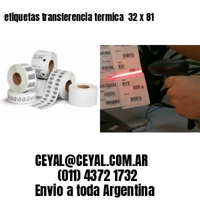 etiquetas transferencia termica  32 x 81