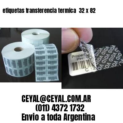 etiquetas transferencia termica  32 x 82