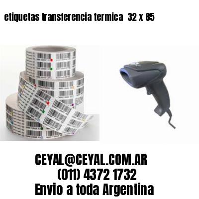 etiquetas transferencia termica  32 x 85