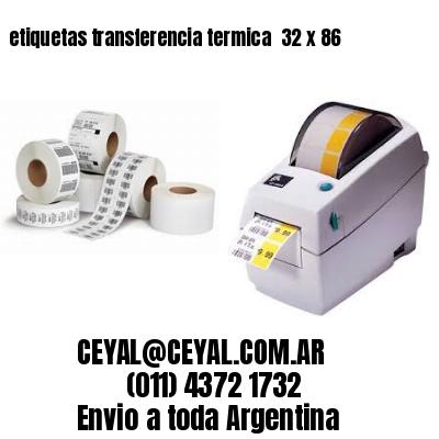 etiquetas transferencia termica  32 x 86