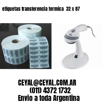 etiquetas transferencia termica  32 x 87