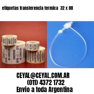 etiquetas transferencia termica  32 x 88